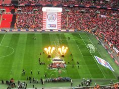 Celebrations at #Wembley #Stadium after #Barnsley FC won the #JPT10. What a day! #BFC #BarnsleyFC #football #soccer #sport #entertainment #leisure #travel #tourism #tourist #event