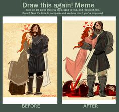 Before and After (SanSan) by kallielef.deviantart.com on @deviantART  sansan is legit, i dont care what you say.
