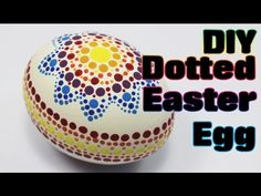 Dotted Rainbow Easter Egg Tutorial #2   Easter Eggs DIY & Crafts