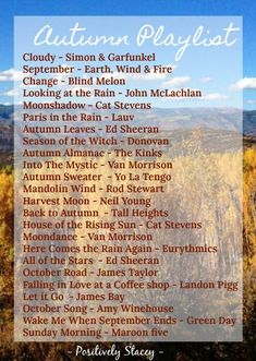 I just got home from a week in the woods! Being surrounded by nature during this time of year inspired me to create an autumn playlist that is perfect for fall. These 24 songs are perfect to set…</br> Fall Playlist, Song Playlist, Music Mood, Mood Songs, Herbst Bucket List, Song Suggestions, Season Of The Witch, Autumn Aesthetic, Song List