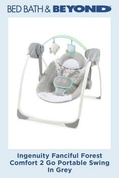The Ingenuity Comfort 2 Go Portable Swing Jungle Journey comfort& your baby anywhere you go. This space-saving swing has 5 speeds, 2 recline positions and a convenient timer for continuous swinging while listening to soothing melodies and nature sounds. Baby Nursery Furniture, Nursery Room Decor, Portable Baby Swing, Toys R Us Canada, Baby Swings, Small Baby, Seat Pads, Baby Grows, Baby Registry
