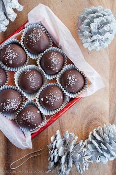 Dark Chocolate- Salted Caramel Truffles