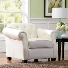 Make your Living Room Inviting with White Living Room Chairs