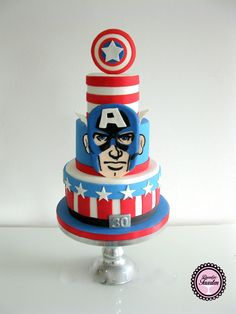 Verjaardagstaart Captain america,Marvel
