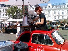 Mobile barista in Malmoe, Sweden.