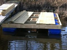 Kayak Accessories Homemade Homemade Floating Dock Pics Included - The Hull Truth - Boating and Fishing Forum Floating Picnic Table, Floating Raft, Floating House, Lake Dock, Boat Dock, Pontoon Dock, Plastic Drums, Small Space Interior Design, Relax
