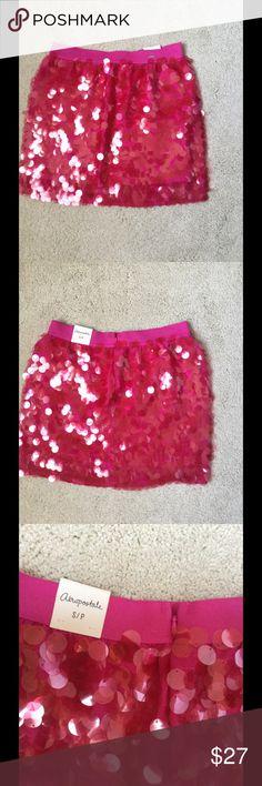 "Aeropostale girls pink sequin skirt Sz S / P new New girls Sz S/P Aeropostale pink sequin skirt 13"" waist , 14,5"" length Aeropostale Dresses Formal"