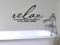 Bathroom Wall Decal Relax To Rest Release Unwind by vgwalldecals