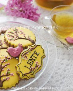 Spring cookies from my Cookie Book (Het Koekboek, only available in Dutch)