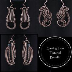 RETIRED LESSONS Wire Jewelry, Jewelry Crafts, Jewelry Ideas, Wire Wrapped Earrings, Key Pendant, Wire Art, Diy Jewelry Making, Heart Earrings, Designer Earrings