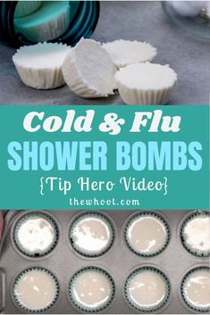 Learn how to make cold and flu shower bombs. They are so easy and they work incredibly well. We have a video tutorial to show you how. Quick Cold Remedies, Flu Remedies, Herbal Remedies, Head Cold Remedies, Allergy Remedies, Shower Steamers, Natural Health Remedies, Holistic Remedies, Natural Remedies For Cold