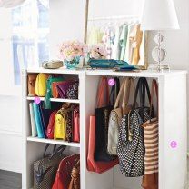 how to: organize your stuff  Hanging clothes is the easy part. When it comes to closet organization, the bigger conundrum is what to do with that jumble of shoes, jewelry and handbags. Here, we'll show you creative storage solutions that let you flaunt your stuff or hide it all away.