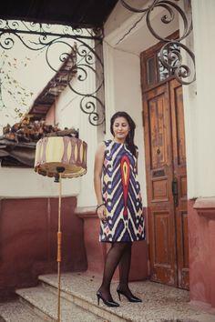 uzbek Ikat ... my eastern soul : Итальянская история платья Moel Bosh ....