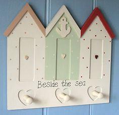 BEACH HUTS PEG RAIL / HOOKS ~ NAUTICAL HOME INTERIORS | eBay
