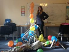 End of term party, balloon creations!