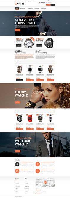 Watches store #OpenCart #webtemplate #themes #business #responsive #template