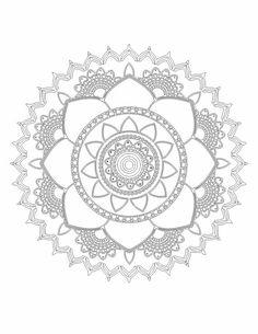 Mandala Para Colorir Chakras