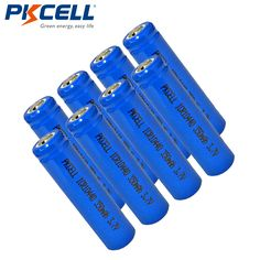 8pcs PKCELL  ICR10440 AAA Size Lithium Battery 3.7V 350mAh 10440 Li-ion Rechargeable Batteries For Flashlights Headlamp #Affiliate
