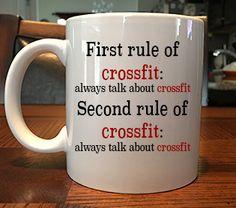 The Rules of Crossfit Funny Coffee Mug