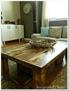 Do It Yourself – Rustic Coffee Table! This looks just like the one I found today!!! So excited!