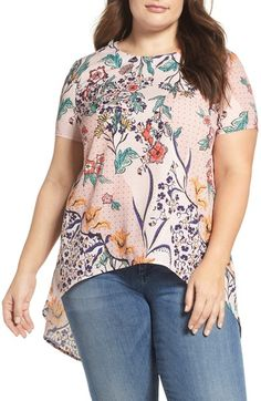 2eed0afe1be Glamorous Open Back Print Top (Plus Size)