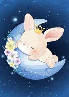 Crown Illustration, Princess Illustration, Cute Animal Illustration, Fantasy Illustration, Digital Illustration, Watercolor Illustration, Bunny Drawing, Bunny Art, Cute Bunny