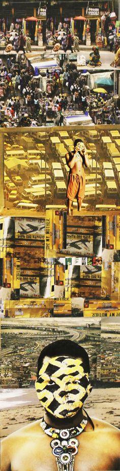Tunji Adeniyi-Jones - Pillars, photo collage on plywood Plywood, Collage, Movies, Movie Posters, Art, Hardwood Plywood, Art Background, Collages, Film Poster