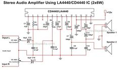 Car Audio Amplifier, Stereo Amplifier, Speakers, Amplificador 12v, Arduino Audio, Electronics Basics, Electronics Projects, Home Theater Amplifier, Power Supply Circuit