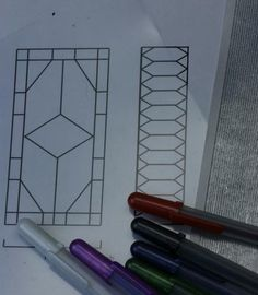 Materials for Making Dollhouse Scale Stained Glass Windows