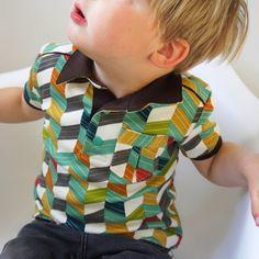 Fruits De Mère: Doe de polo Sewing For Kids, Baby Sewing, Camisa Polo, Polo Shirt, T Shirt, Little Princess, My Boys, Baby Kids, Kids Fashion
