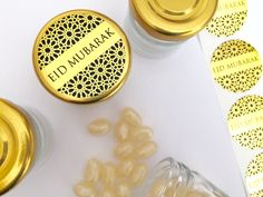 #eidfavours #eidfavors #eiddecor #eidstickers #shinebrightstickers Eid Mubarak Stickers, Eid Stickers, Eid Favours, Favors, Ramadan Crafts, Note Paper, Gold Material, How To Find Out, Dots