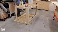 Build your own Table Saw Outfeed Table today! **FREE PLANS and Full Video Tutoral** Make this in one day with only a few tools needed. Easy Woodworking Projects, Woodworking Shop, Woodworking Plans, Tablesaw Outfeed Table, Used Table Saw, Workbench With Storage, Assembly Table, Build A Table, Tool Bench