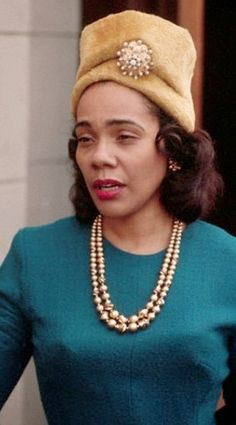Coretta Scott King I loved her she was the strength of a nation in those troubled years that followed her husband's death. I saw her grave in Atlanta and I was disappointed it was not in the wading pond next to him. That needs to be redone.