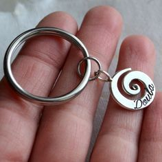 Doula Key Chain Sterling Silver by moonovermaize on Etsy