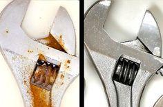Tire a ferrugem de suas ferramentas com este truque de limpeza natural