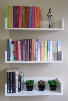 prateleira decorativa p/ livros em u 60 l x 11,5 a x 18 p