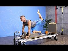 Crouching Tiger to Oblique Twist on the Pilates Reformer - YouTube