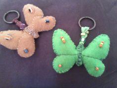 Porta chaves borboletas 4,00 euros ArteNelia
