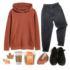 """autumn is here"" by x-whatsername ❤ liked on Polyvore featuring H&M, Levi's and Dr. Martens"