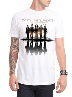 The Mortal Instruments: City Of Bones Group Reflection T-Shirt | Hot Topic: White T-shirt with reflection design, inspired by The Mortal Instruments: City of Bones. $20.50 USD