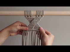 How to make macrame owl wall hanging stepbystep DIY tutorial part of 2 Link to Part II Owl fluffy eyes In this tutorial you will learn how to create macrame owl wall hanging. If you already know basic macrame knots this video will be eas Clove Hitch Knot, Half Hitch Knot, Diy Macrame Wall Hanging, Macrame Owl, Creation Couture, Macrame Design, Macrame Projects, Circle Pattern, Macrame Patterns