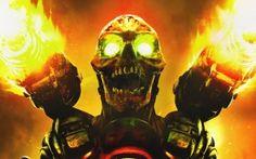 Preview wallpaper doom, skull, fire, monster