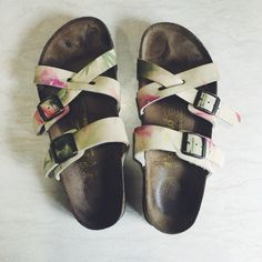 BIRKENSTOCKS Papillio Birkenstocks! It's a cute floral sandals! Never worn it that much. Birkenstock Shoes Sandals