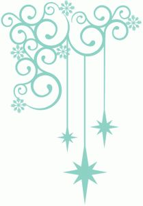 Silhouette Design Store - View Design #71519: christmas star drop corner flourish