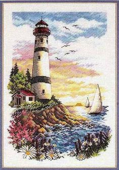 Dimensions Lighthouse pattern, Counted cross stitch Dawn of new day, counted cross stitch PDF pattern Counted cross stitch PDF, e pattern Cross Stitch Sea, Beaded Cross Stitch, Counted Cross Stitch Patterns, Cross Stitch Charts, Cross Stitch Embroidery, Dimensions Cross Stitch, Cross Stitch Pictures, Canvas Designs, Cross Stitching