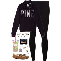 half-day, being lazy by classically-preppy on Polyvore featuring polyvore, fashion, style, Victoria's Secret PINK, James Perse, UGG Australia, J.Crew, Warby Parker, NARS Cosmetics, Essie and Lilly Pulitzer