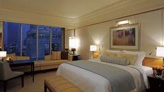 The+Ritz-Carlton,+Dubai+International+Financial+Centre+-+Premier+Rooms,+located+on+floors+six+through+12,+offer+stunning+views+through+floor-to-ceiling+windows+