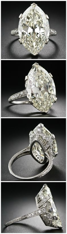 Beautiful 'moval' diamond | Lang Antiques