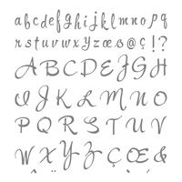 Brushwork Alphabet Photopolymer Stamp Set   Price: $26.00
