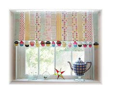Whimsical Paper Cupcake Window Treatment  by LittleLaLaOriginals, $24.99...bought this for Anna's bathroom. It's very cute and sure I probably could have made it but life is too short to do it all!